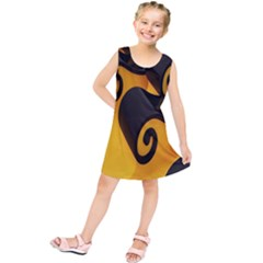 Black Yellow Kids  Tunic Dress