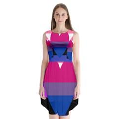 Combo Flag Sleeveless Chiffon Dress