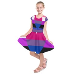 Combo Flag Kids  Short Sleeve Dress