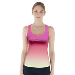 Blue Pink Purple Red Racer Back Sports Top