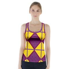 Complexion Purple Yellow Racer Back Sports Top
