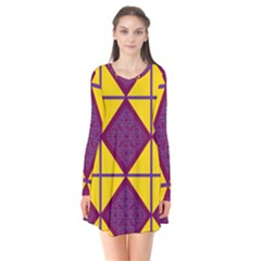 Complexion Purple Yellow Flare Dress