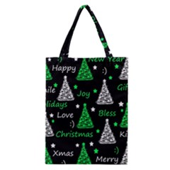 New Year Pattern   Green Classic Tote Bag