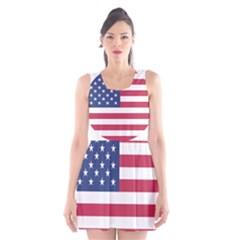 American Flag Scoop Neck Skater Dress