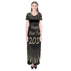 Celebration New Year 2017 Short Sleeve Maxi Dress