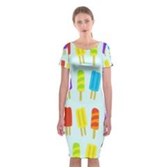 Food Pattern Classic Short Sleeve Midi Dress