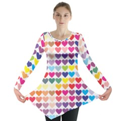 Heart Love Color Colorful Long Sleeve Tunic
