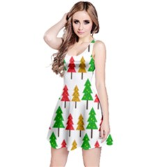 Christmas Trees Pattern Reversible Sleeveless Dress