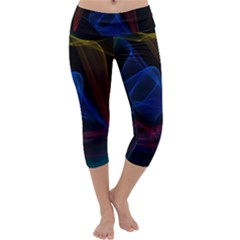 Lines Rays Background Light Pattern Capri Yoga Leggings