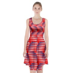 Patriotic pattern Racerback Midi Dress