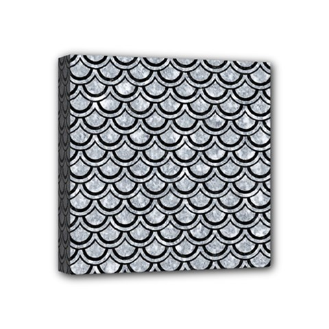 Scales2 Black Marble & Gray Marble (r) Mini Canvas 4  X 4  (stretched)