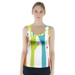 Hand Coloor Racer Back Sports Top