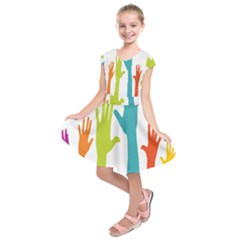 Hand Coloor Kids  Short Sleeve Dress