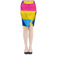 Panromantic Flags Love Midi Wrap Pencil Skirt
