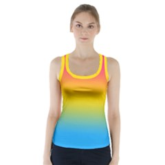 Pink Orange Green Blue Racer Back Sports Top