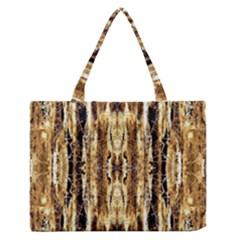 Beige Brown Back Wood Design Medium Zipper Tote Bag