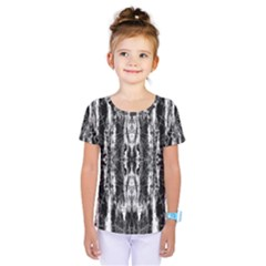 Black White Taditional Pattern  Kids  One Piece Tee