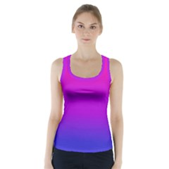 Pink Purple Blue Racer Back Sports Top
