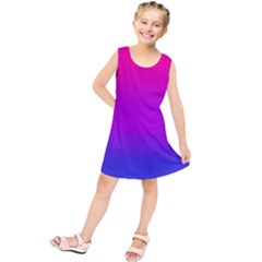Pink Purple Blue Kids  Tunic Dress