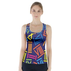 Roman Numerals Racer Back Sports Top