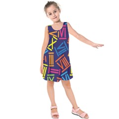 Roman Numerals Kids  Sleeveless Dress