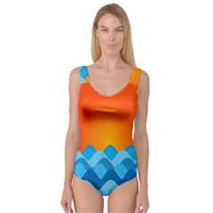 Water Orange Princess Tank Leotard