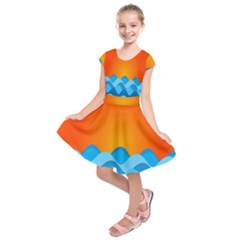 Water Orange Kids  Short Sleeve Dress