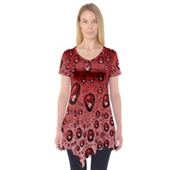Red Water Short Sleeve Tunic