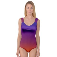 Purple Orange Blue Princess Tank Leotard