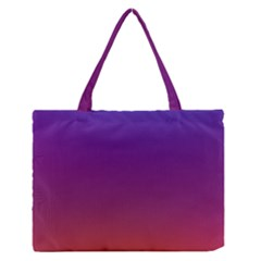 Purple Orange Blue Medium Zipper Tote Bag
