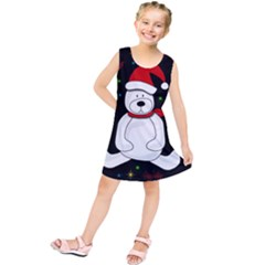 Polar Bear   Xmas Design Kids  Tunic Dress