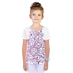 Elegant Starry Christmas Pink Metallic Look Kids  One Piece Tee