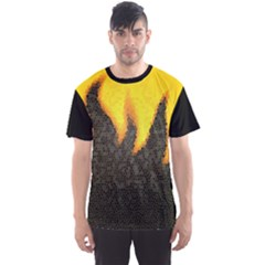 black background Men s Sport Mesh Tee