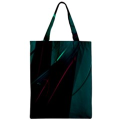 Abstract Green Purple Zipper Classic Tote Bag