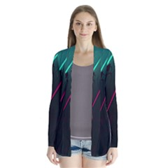 Abstract Green Purple Cardigans
