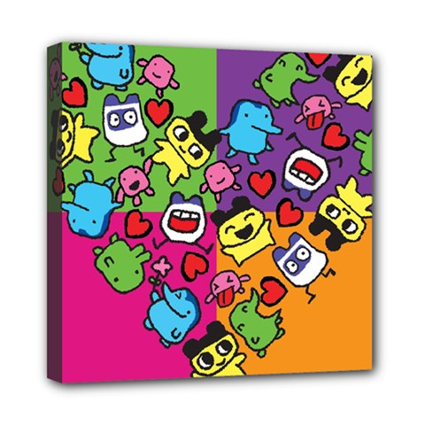 Cartoon Pattern Mini Canvas 8  X 8