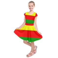 Kurdistan Kurd Kurds Kurdish Flag Kids  Short Sleeve Dress