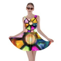 Glass Colorful Stained Glass Skater Dress