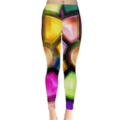Glass Colorful Stained Glass Leggings