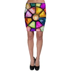 Glass Colorful Stained Glass Bodycon Skirt