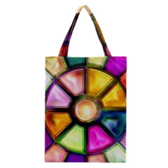Glass Colorful Stained Glass Classic Tote Bag