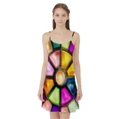 Glass Colorful Stained Glass Satin Night Slip