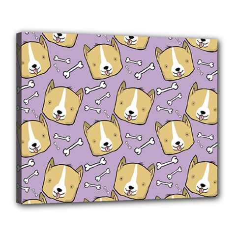 Corgi Pattern Canvas 20  X 16