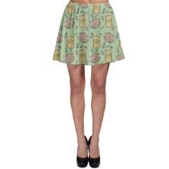 Hamster Pattern Skater Skirt