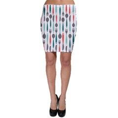 Spoon Fork Knife Pattern Bodycon Skirt