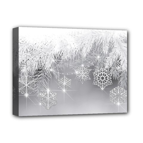 New Year Holiday Snowflakes Tree Branches Deluxe Canvas 16  X 12