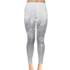 New Year Holiday Snowflakes Tree Branches Leggings