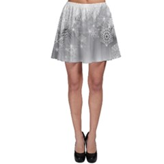 New Year Holiday Snowflakes Tree Branches Skater Skirt