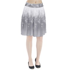 New Year Holiday Snowflakes Tree Branches Pleated Skirt