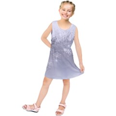 New Year Holiday Snowflakes Tree Branches Kids  Tunic Dress